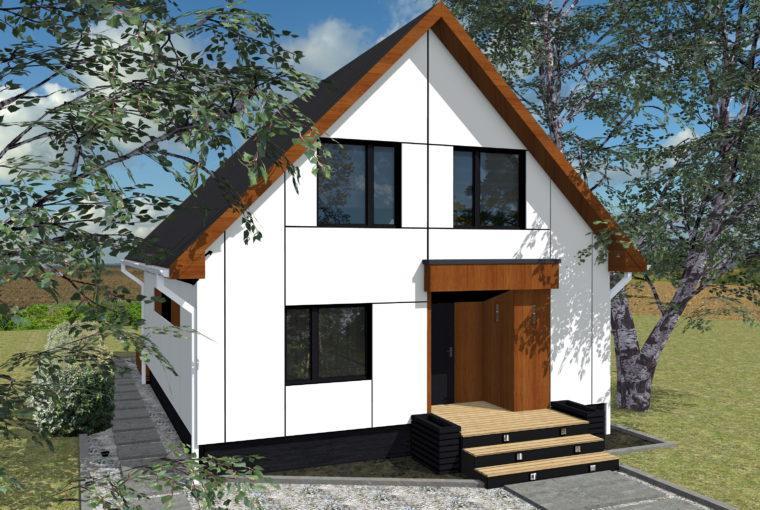Проект каркасного дома AMARANT от компании MakHouse