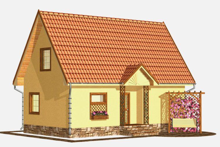 Проект каркасного дома ASTER от компании MakHouse