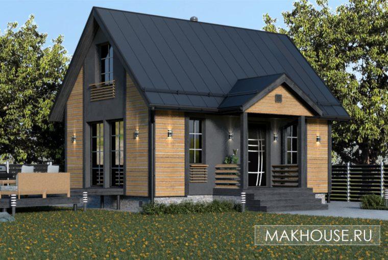 Проект каркасного дома CROCUS от компании MakHouse