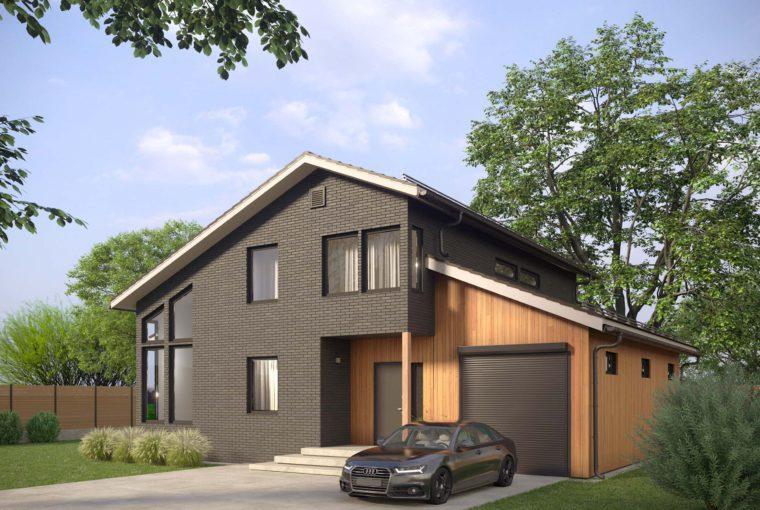 Проект каркасного дома BOR от компании MakHouse