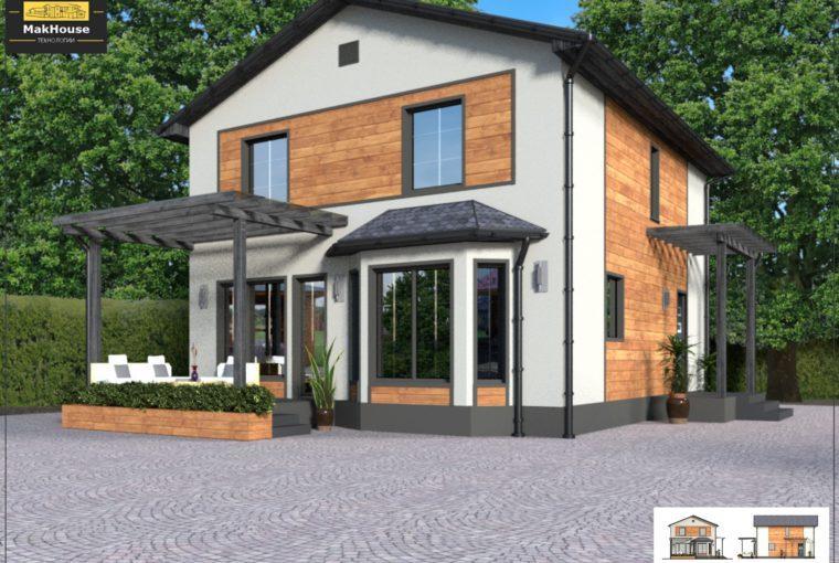 Проект каркасного дома SAFONOVO от компании MakHouse