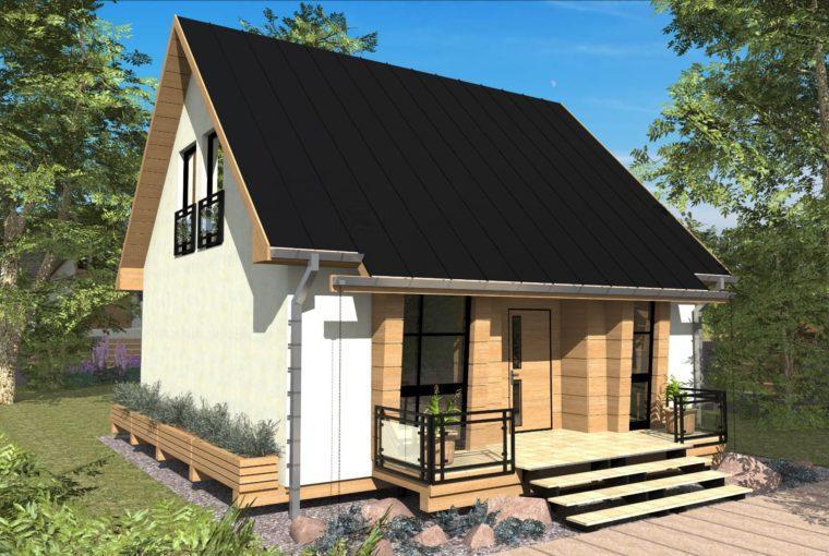 Проект каркасного дома IRIS от компании MakHouse