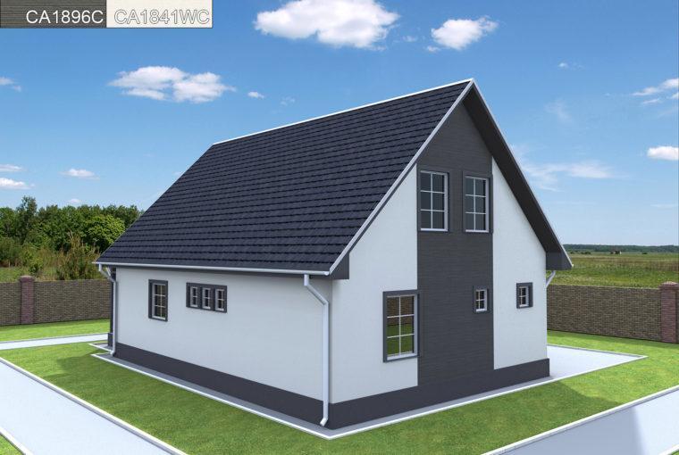 Проект каркасного дома LAGUNA от компании MakHouse