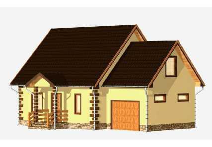 Проект каркасного дома от компании MakHouse