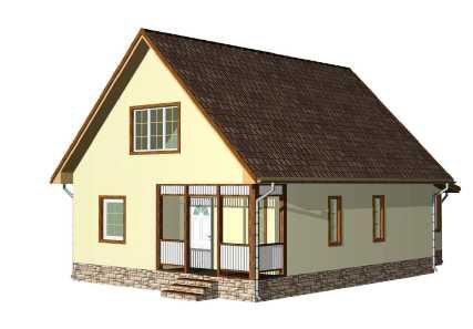 План каркасного дома MakHouse