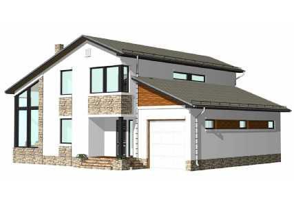 Проект каркасного дома MakHouse