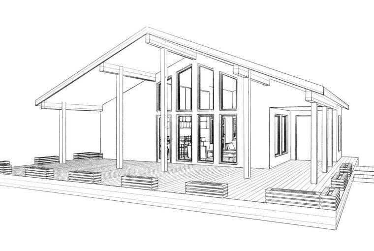 Проект каркасного дома GALAX