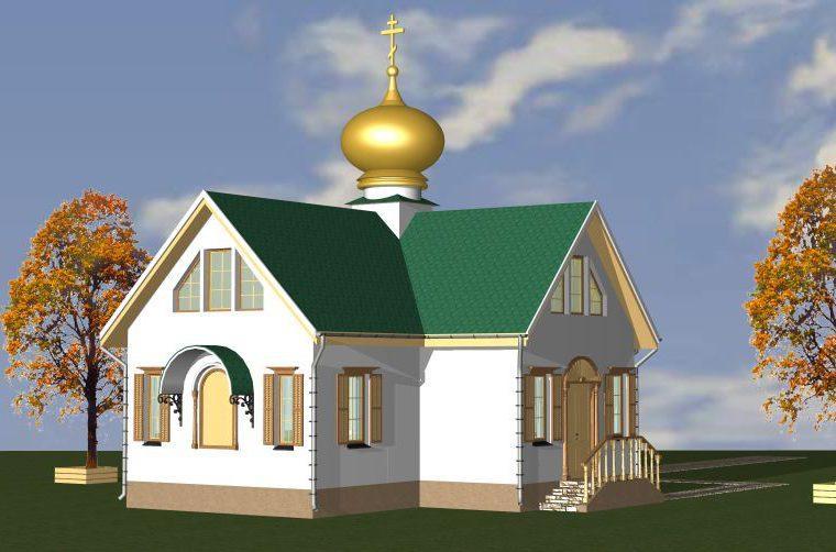 Проект каркасного храма от компании MakHouse