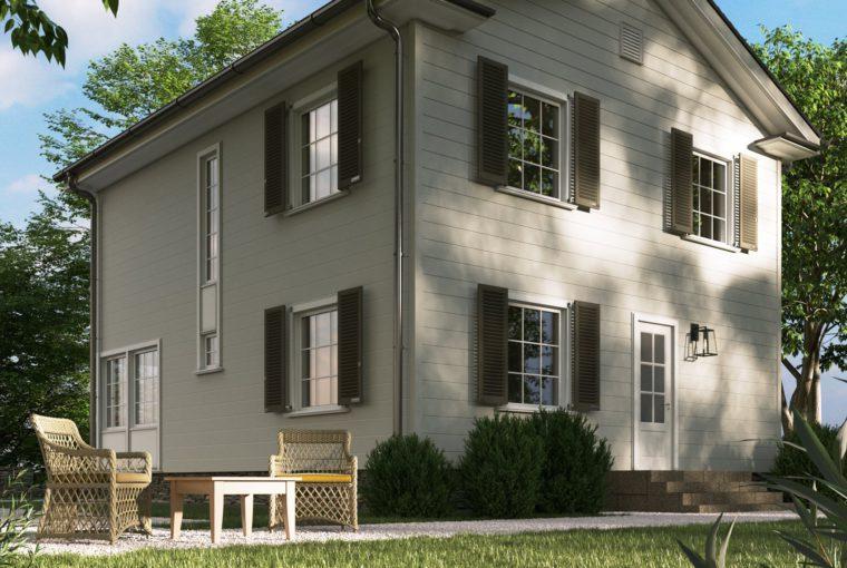 Проект каркасного дома BEGONIA от компании MakHouse