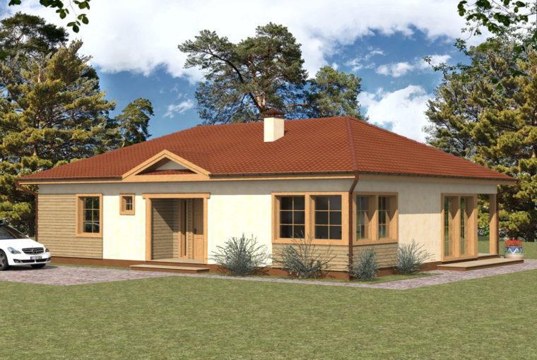 Проект каркасного дома LAUREL от компании MakHouse