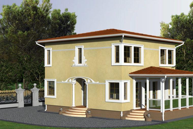Проект каркасного дома BABITE от компании MakHouse