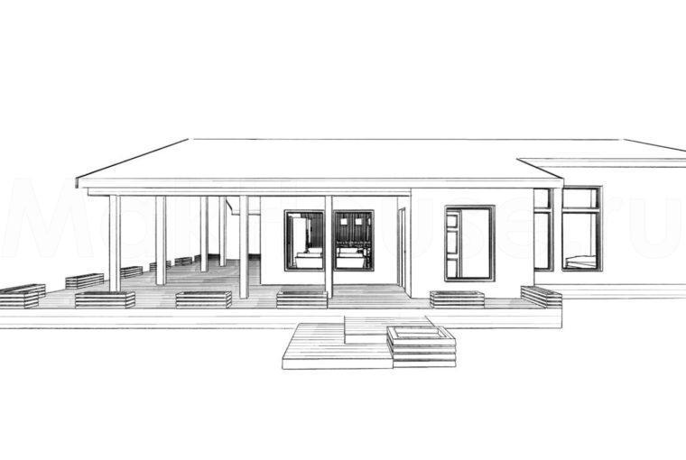 Проект каркасного дома GALAX от компании MakHouse