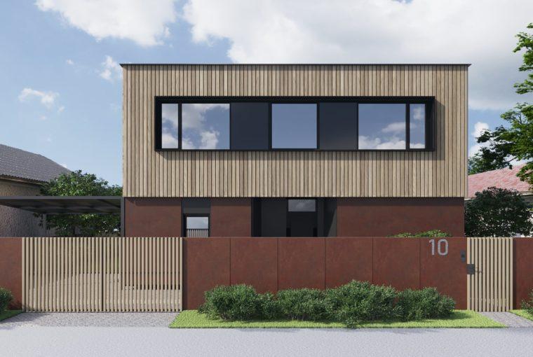 Проект каркасного дома SKY от компании MakHouse