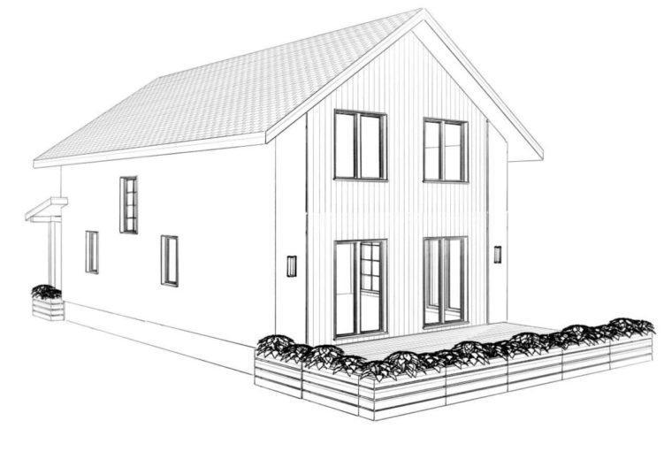 Проект каркасного дома LOFOTEN