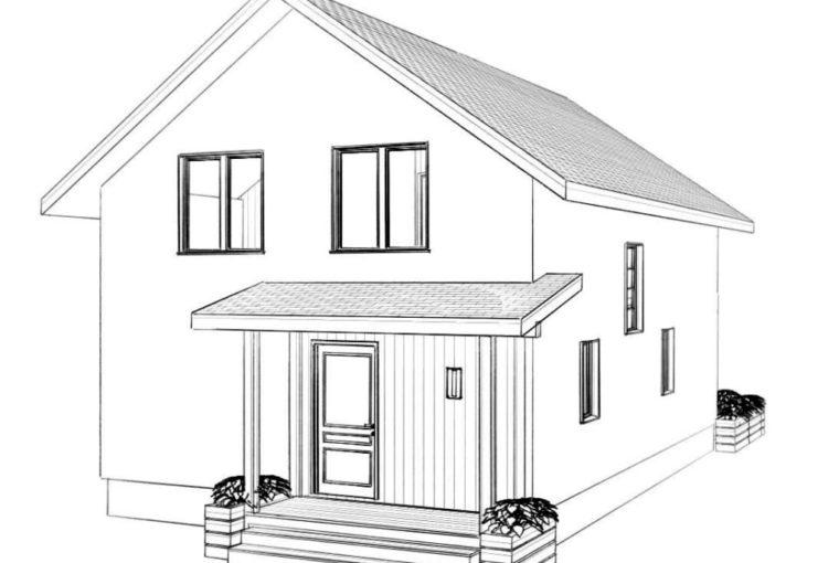 Проект каркасного дома LOFOTEN то компании MakHouse